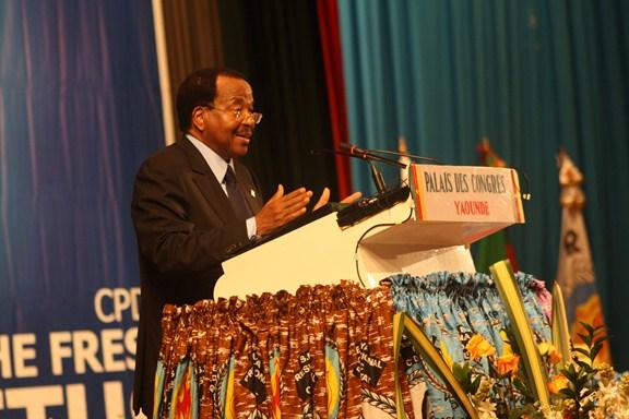 Paul Biya, président du Rdpc lors du congrès de son parti en 2011. Crédit photo: journalducameroun.com