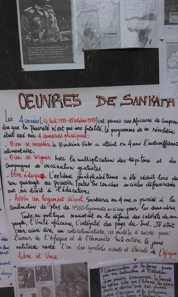 Les œuvres majeures de Sankara présentées lors de l'exposition. Crédit photo: Ulrich Tadajeu