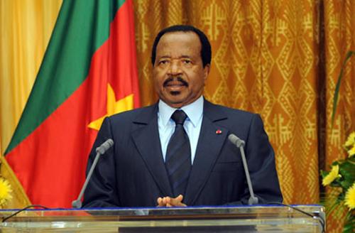Le président Paul Biya lors d'un message à la nation camerounaise. Crédit photo: angazamag.com