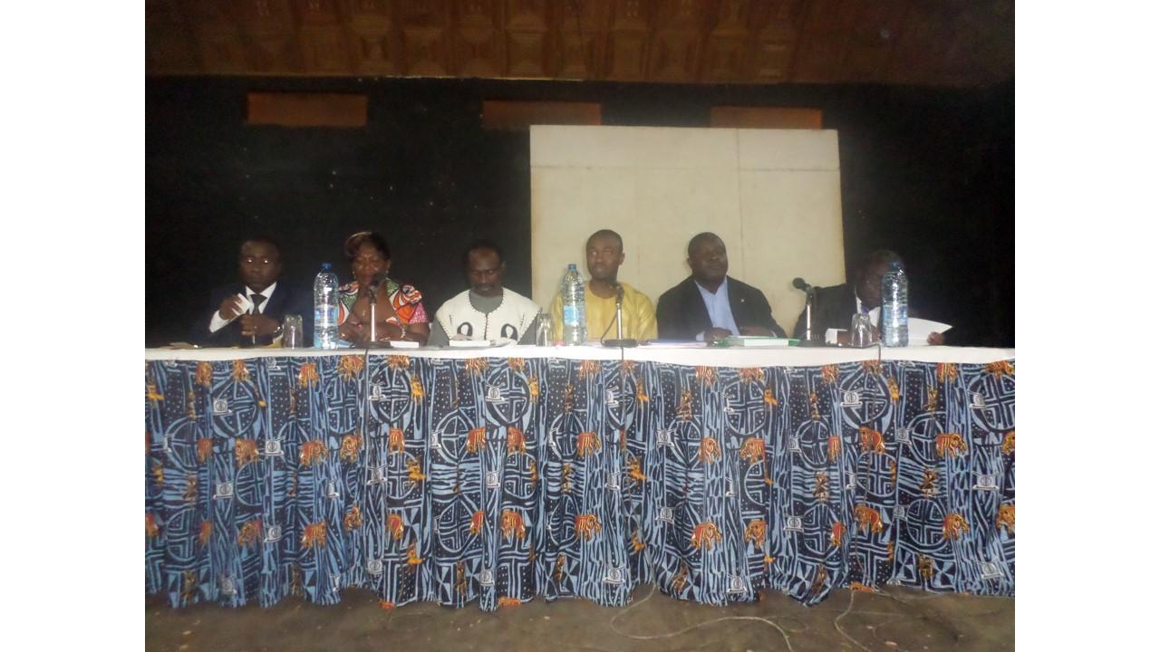 Les panélistes lors de la conférence. Crédit image: Ulrich Tadajeu