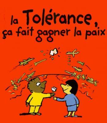 La tolérance ça fait gagner la paix. Crédit image:casafree.com