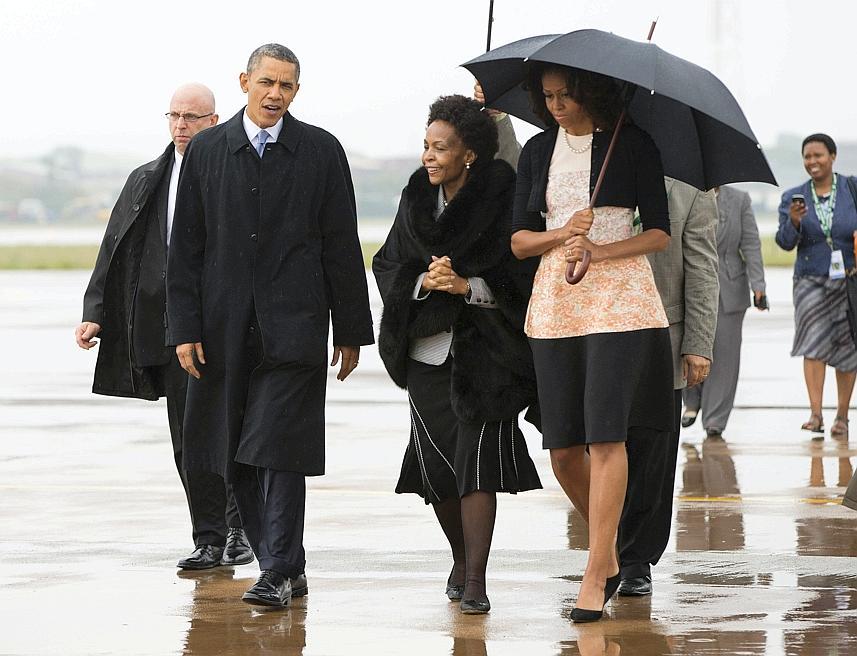 Arrivée de Barack et Michèle Obama. Crédit image: lefigaro.fr