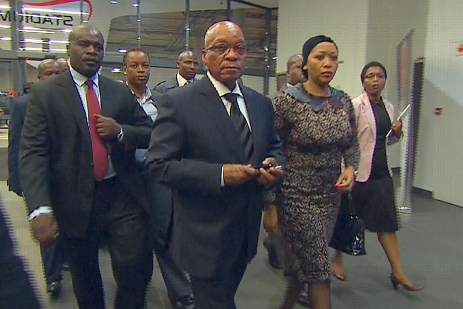 Arrivée de Jacob Zuma, président Sud-Africain. Crédit photo: lefigaro.fr