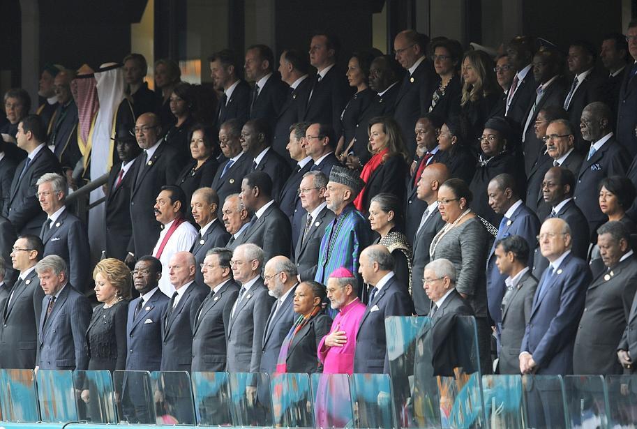 Près de 91 chefs d'Etats et de gouvernements ont fait le déplacement de Johannesburg. Crédit photo:lefigaro.fr