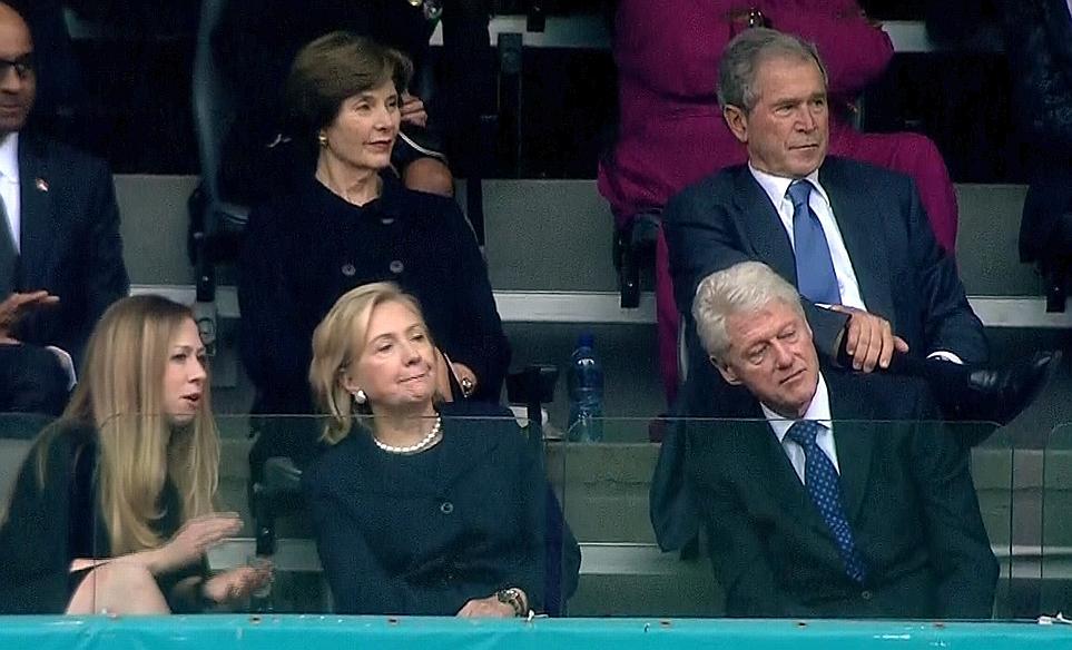 Les couples Clinton et Bush étaient présents. Crédit photo: lefigaro.fr