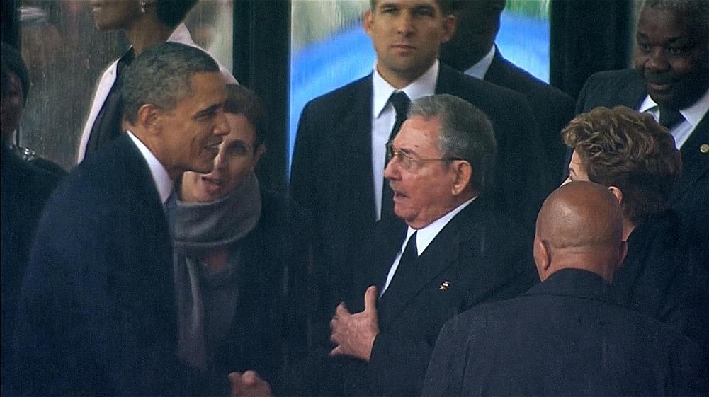 Barack Obama et Raoul Castro. Crédit photo: lefigaro.net