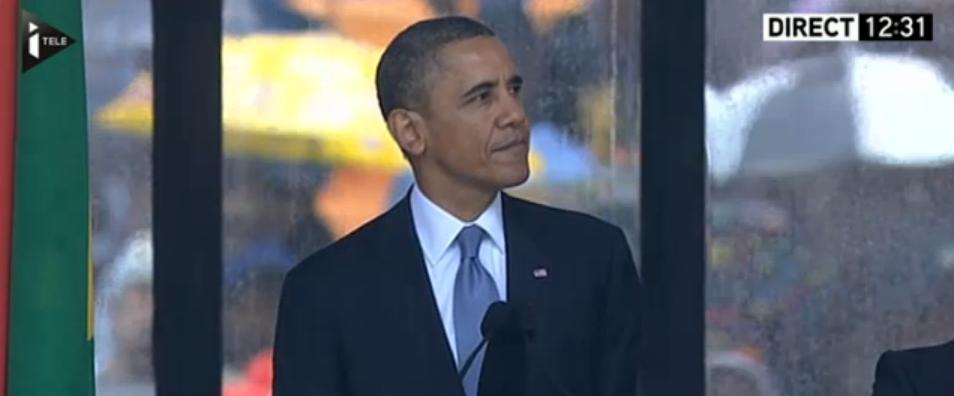 Barack Obama pendant son discours. Crédit photo: lefigaro.fr