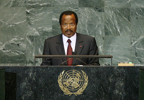 Paul Biya, President of the Republic of Cameroon, addresses the general debate of the sixty-fourth session of the General Assembly.25/Sep/2009. United Nations, New York. UN Photo/Marco Castro. www.unmultimedia.org/photo/