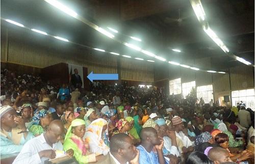 Image du président Paul Biya à l'amphi 700. Crédit image: Ulrich Tadajeu.