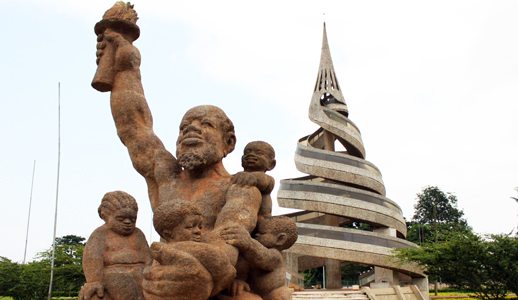 Le monument de la Réunification à Yaoundé, Cameroun. Crédit image: french.china.org.cn