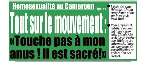 """Le pied de une de l'hebdomadaire """"Integration"""" du 24 mars 2014.  ©  journalducameroun.com"""
